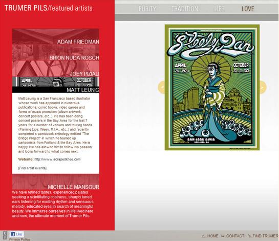 Trumer site... featured artists
