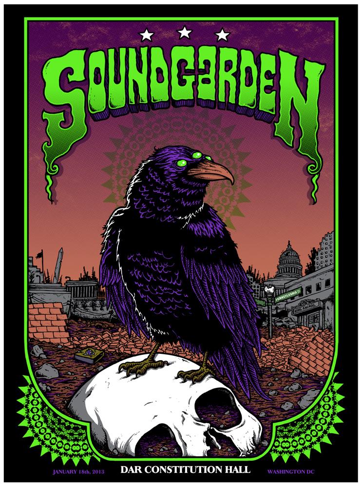 Soundgarden Washington Dc 2013 Scraped Knee