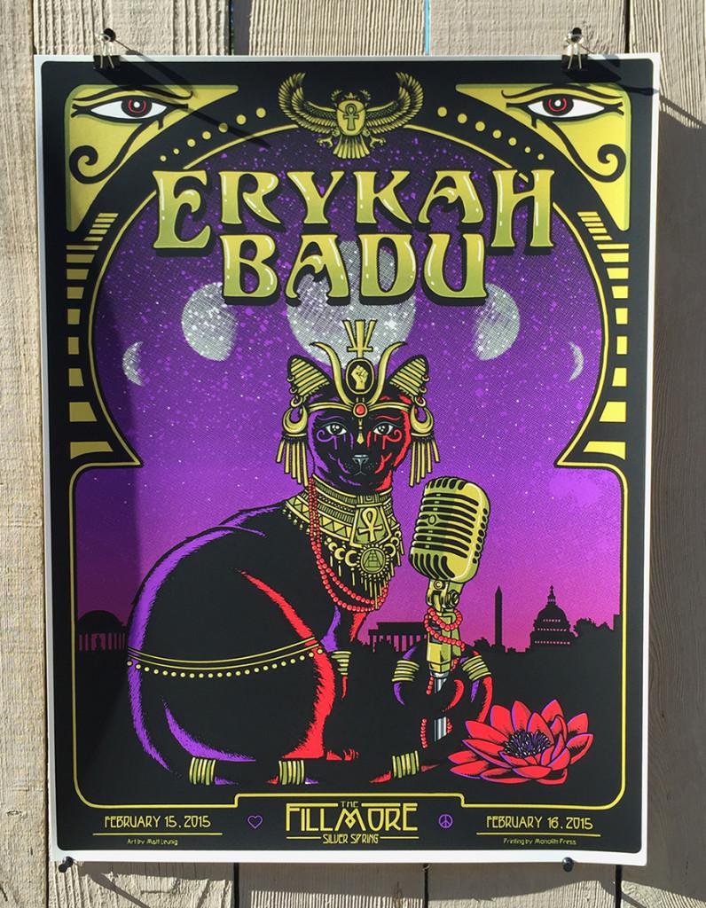 Erykah Badu - Fillmore Silver Spring 15' print