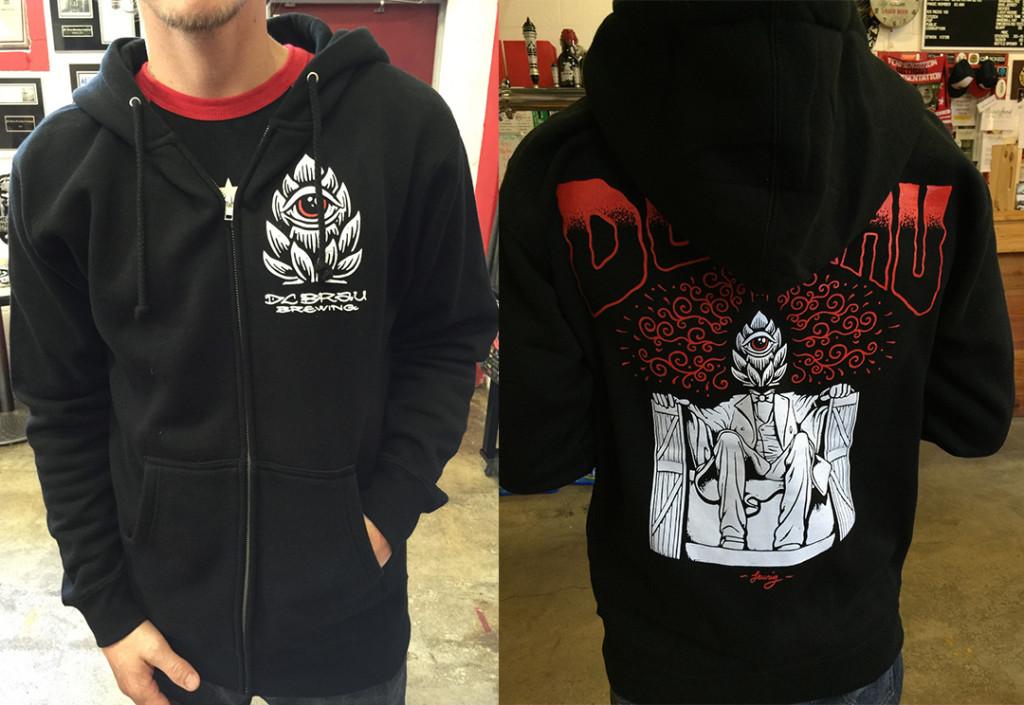 """DC Brau """"Hop Head"""" hoodie.."""