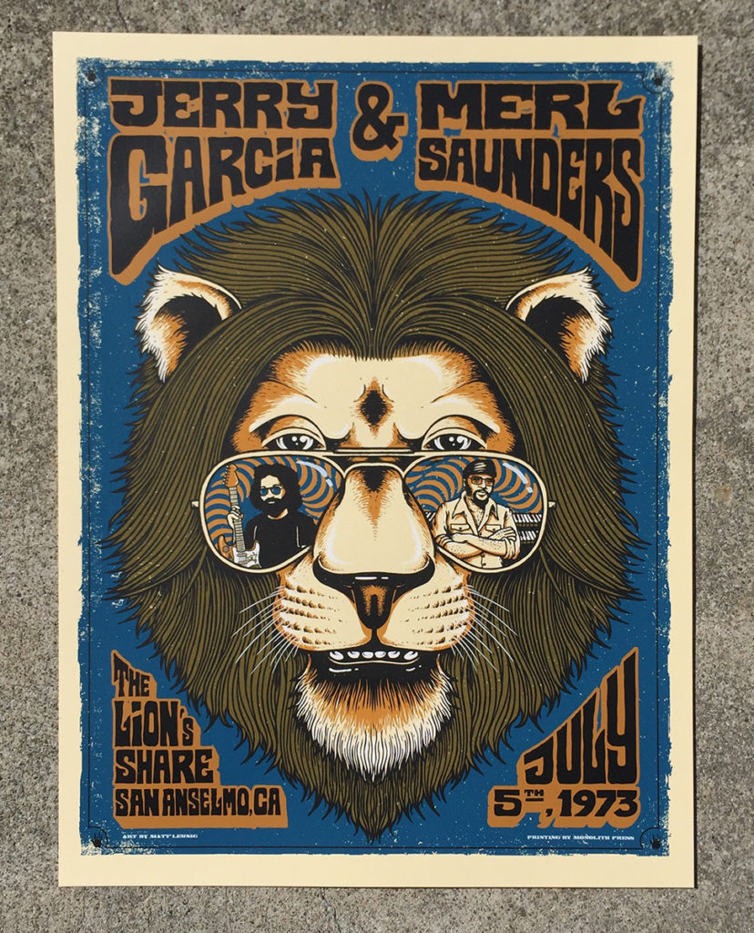 Jerry Garcia & Merl Saunders print release this Friday….