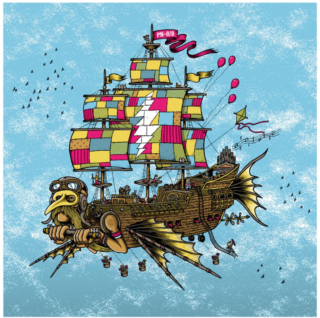 """Airship of Fools"" commission print."