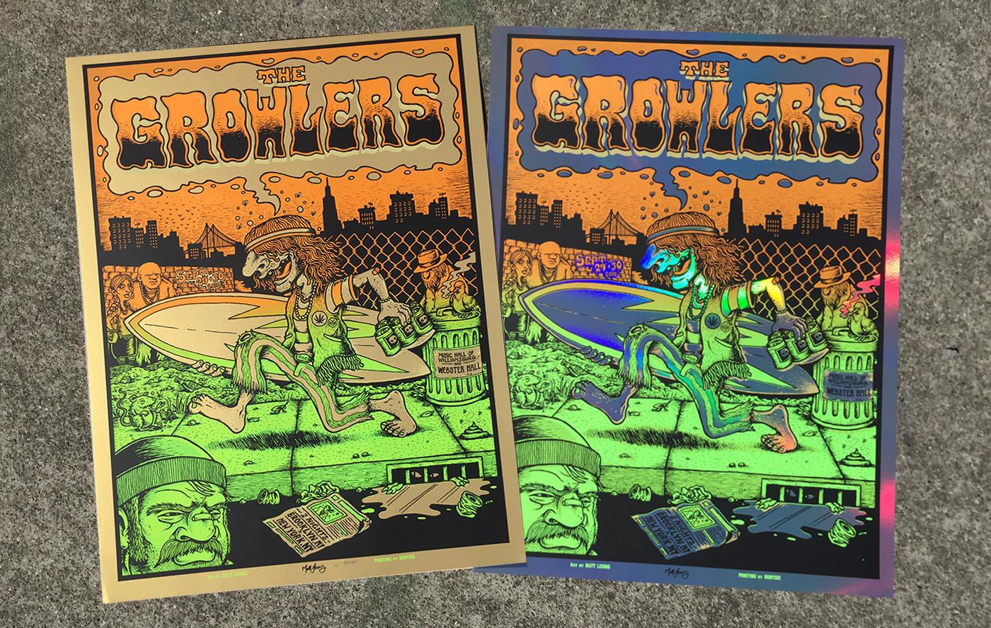The Growlers Nyc Brooklyn Poster Scraped Knee