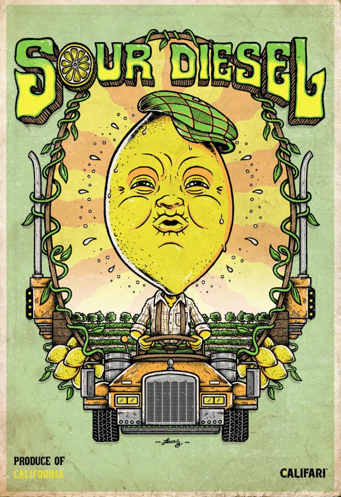 """""""Sour Diesel"""" Califari print"""
