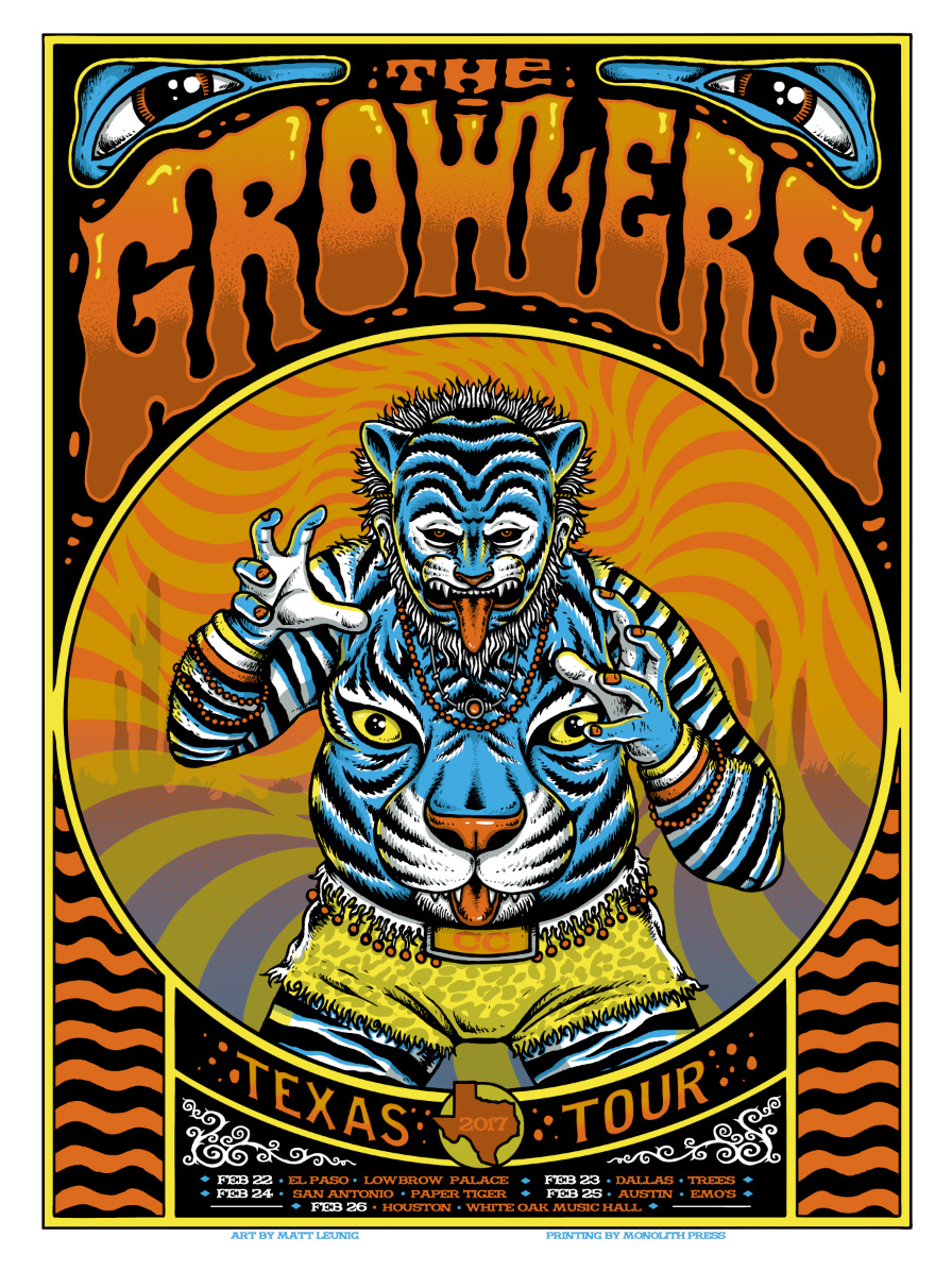The Growlers Texas Tour Poster… 2017 : Scraped Knee
