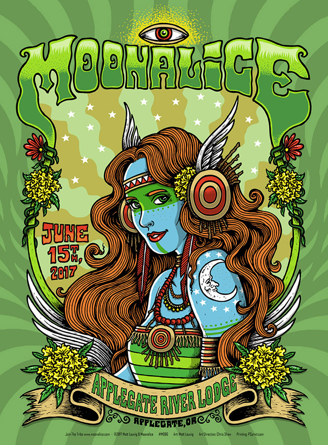 Moonalice poster,… Applegate, OR.