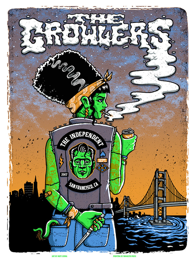 The Growlers San Francisco & Brooklyn diptych prints…