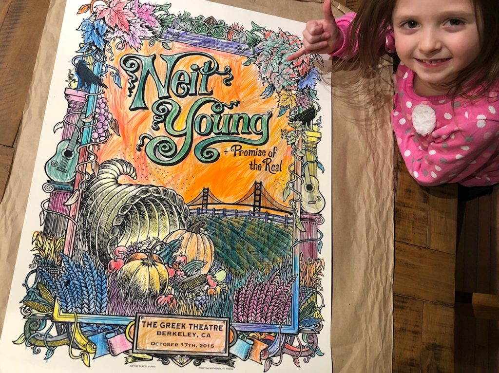 Ainsley (Age 5 – Bethlehem, PA) – Neil Young  – 2015