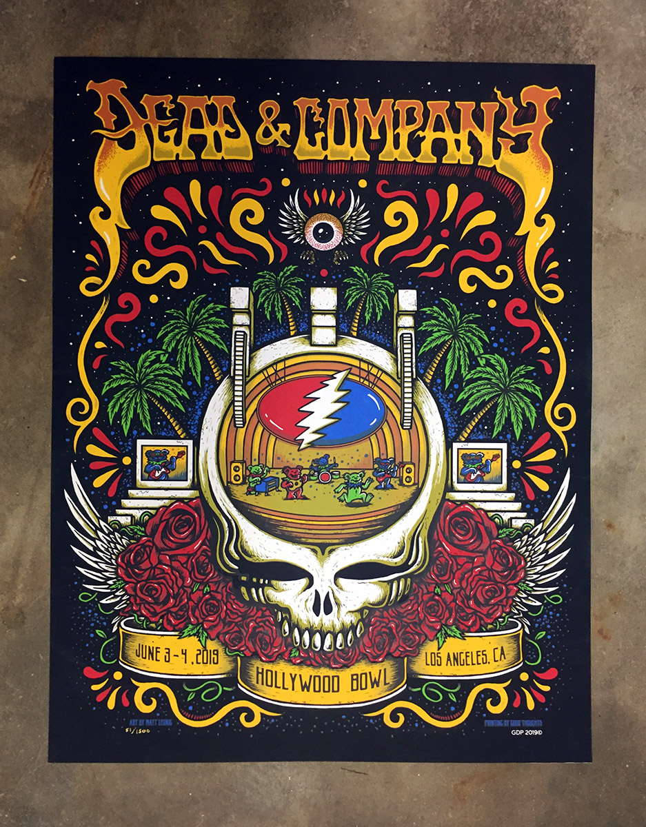 New Dead and Company Hollywood Bowl print : Scraped Knee